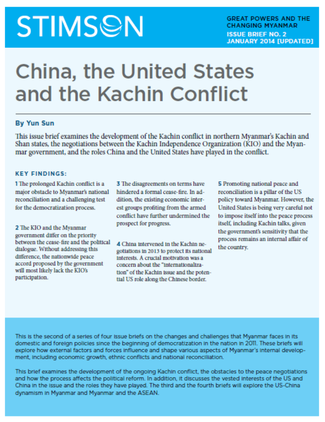 China, the United States and the Kachin Conflict