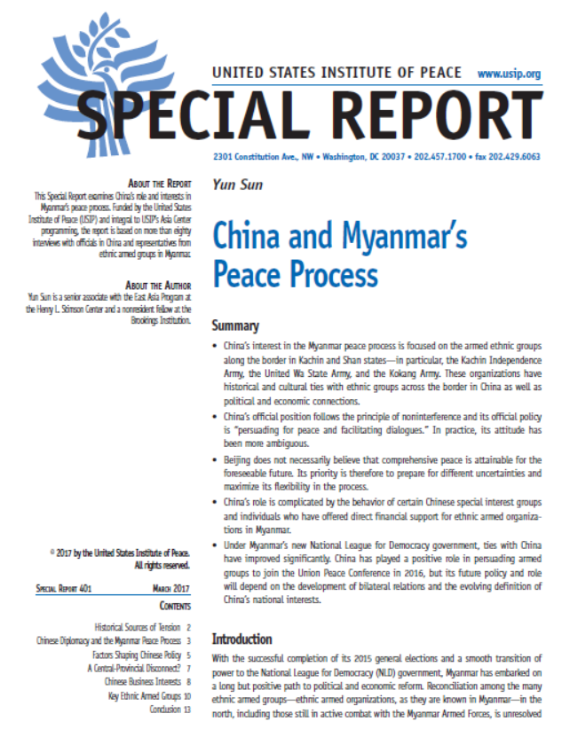 China and Myanmar's Peace Process