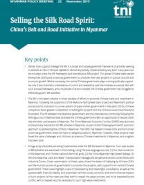Selling the Silk Road Spirit: China's Belt and Road Initiative in Myanmar